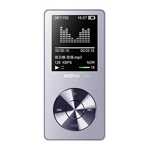 Nowear Mahdi M220 8GB Metall Mini-MP3-HIFI Digital Audio Player Portable Auto-MP3-Sport-Musik-Player-Lautsprecher FM Radio E-Buch (Mp3-audio-buch-player)