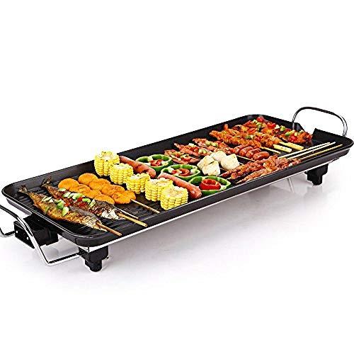 Grill elettrico multifunzione antiaderente pentola elettrica piastra di riscaldamento per barbecue per stufa -2200w + pentola,l-68cm*28cm