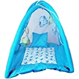 Satnam Global Baby Bedding Set/Baby Bedding Set With Mosquito Net And Baby Play Gym With Mosquito Net (Blue Print)