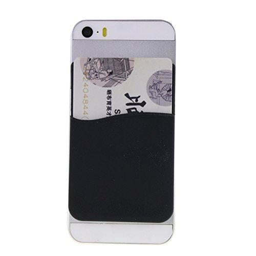 yuyikes Silikon 3m selbstklebend Smart Pouch, Kreditkarte Holder aufgeklebtem Brieftasche für alle iPhone und Android Smartphones