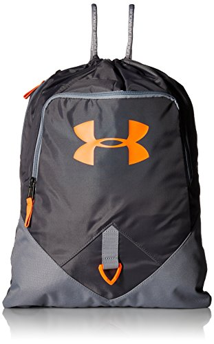 Under Armour Uni UA Undeniable Sackpack Sportbeutel, Grau/Orange, 18L (Drawstring-sport-pack)