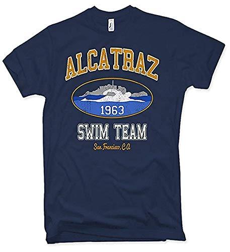 NG articlezz Herren T-Shirt Alcatraz Swim Team - EIN geniales Funshirt - Swim-team T-shirts