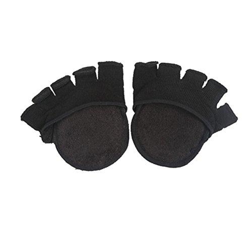 Preisvergleich Produktbild Healifty Unsichtbare Zehensocken Mittelfuß Pads Yoga Sportsocken Zehenspreizer Fünf Finger Socken für Trockene Haut 1 Paar (Schwarz)