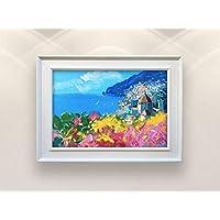 Positano Italy Painting on Canvas Original Amalfi Coast Seascape Wall Art Home Decor Gift