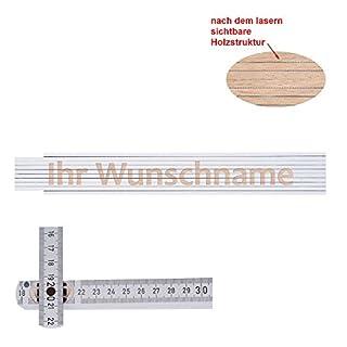 Zollstock/Meterstab 2 Meter mit beliebigem Namen Wunschname Wunschtext