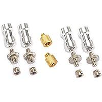 TARION kit de 6 adaptadores de rosca adaptador del tornillo 1/4 a 3/8 y 3/8 a 1/4 de latón cromado para flash trípodes y placas de abrazadera de liberación
