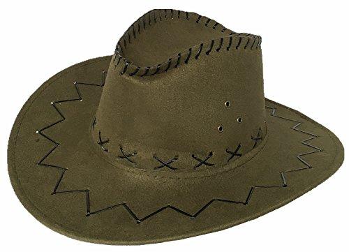 Cowgirl australien Texas Cowboy Hut Hüte Western für Erwachsene und Kinder (One size, Grün) (Grüne Cowboy-hut)