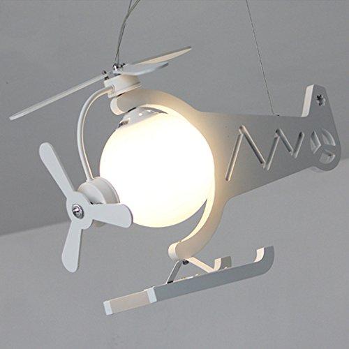 Lustre Protection des yeux avion lumières garçons chambre LED filles créative chambre belle enfants magasin de vêtements lustres Éclairage décoratifA+ ( Couleur : Blanc )