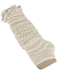 Vococal® Au Crochet dentelle garniture coton 1 paire féminines tricoter des chaussettes de bottes guêtres