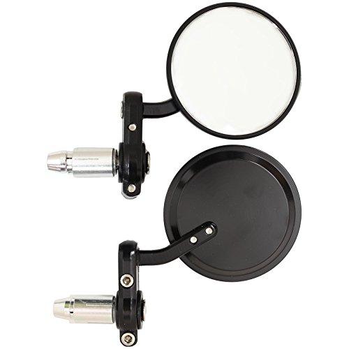Ryde Runder 22mm Motorradspiegel für Lenker-Ende - schwarz