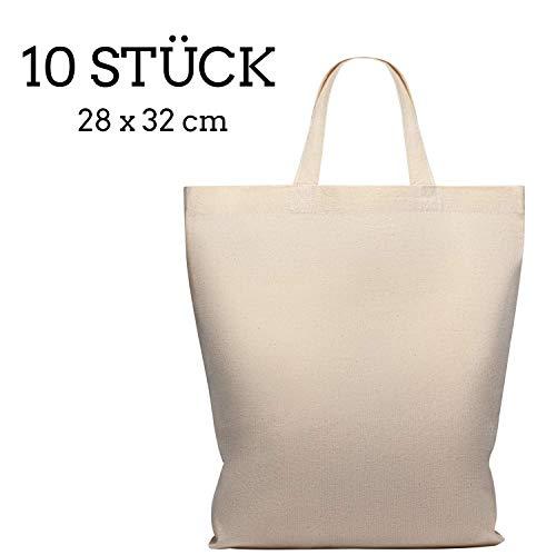 Mmidi Lot de 10 sacs en coton de 28 x 32 cm