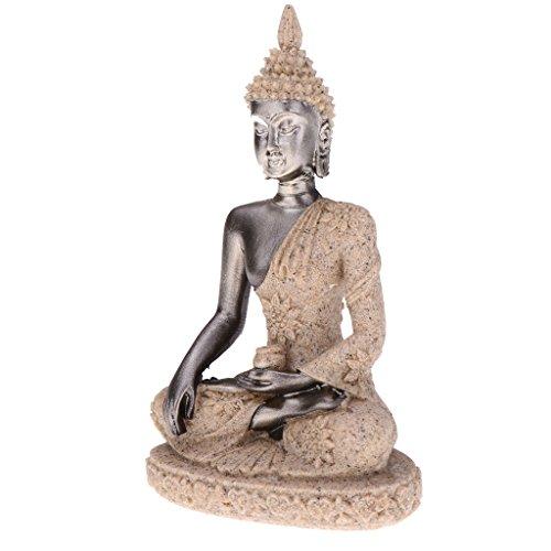 Homyl Sandstein Joss Buddha Statue Figuren Dekofigur für Büro Wohnzimmer