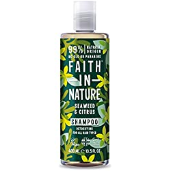 Faith in Nature - Shampoo Naturale al 100% Con Alghe Marine e Cedro Per tutti I Tipi di Capelli - Per Lavaggi Frequenti - Senza Parabeni - Vegano