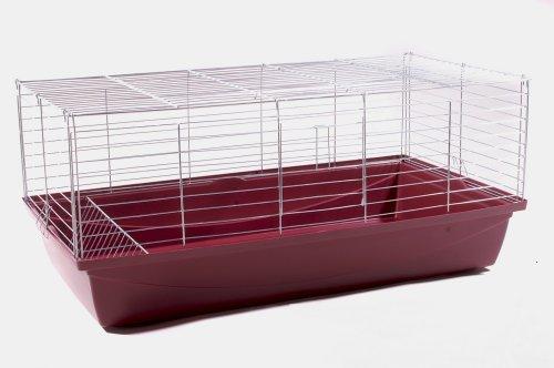 Hasenkäfig Kaninchenkäfig Meerschweinchenkäfig Kleintier Rabbit 100x54x48 weinrot