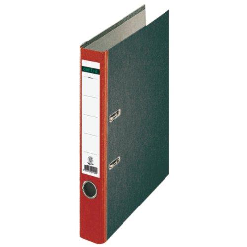 Preisvergleich Produktbild Centra 221123 Standard-Ordner (grauappe RC, mit Wolkenmarmor-Papier-Kaschierung, A4, 5,2 cm Rückenbreite) rot