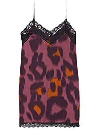 99ace395861 Zara Women s Animal Print Camisole Dress 2078 403 Blue