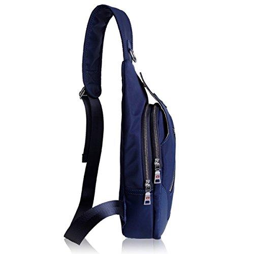 BULAGE Pack Brusttasche Herren- Multifunktional Lässig Schulter Schulranzen Im Freien Brust Messenger Mode Sport Atmungsaktiv Blue