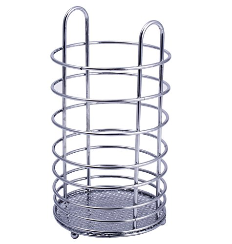 NOVICZ Stainless steel Cutlery Rack Kitchen Utensils Rack Spoon Holder Stand Knife Stand Storage  available at amazon for Rs.200