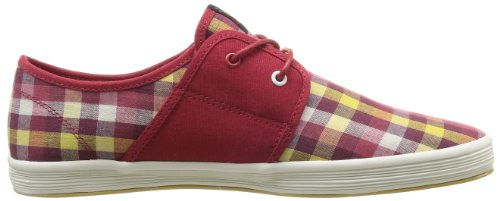 Base London Spam 2, Baskets mode homme Rouge (Aqs Picnic Check Red)