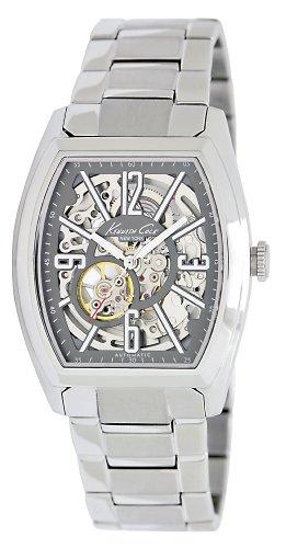 kenneth-cole-kc9033-reloj-analogico-automatico-para-hombre-con-correa-de-acero-inoxidable-color-plat