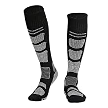 Patzbuch Unisex Thermal Ski Socks High Performance Thermal Ski Socks Snowboard Socks Winter Thermal Long Hose Artificial Wool Ski Socks