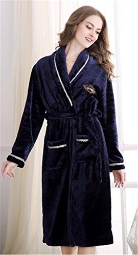 Hollwald Only Faith Fashion Couple Warmth Thicken Lovers Flannel Coral Fleece  Sleepwear Set Women s Pajama Set 21e03412d