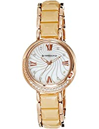 Giordano Analog Mother of Pearl Dial Women's Watch - 60083-44