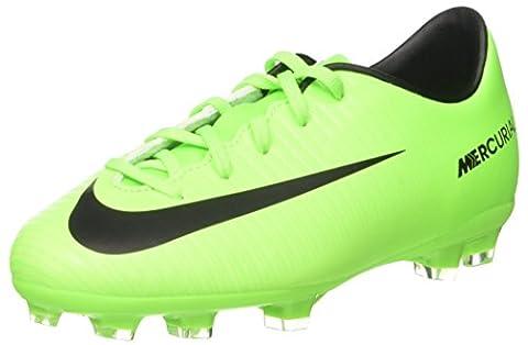 Nike Jr Mercurial Vapor XI FG, Chaussures de Football Entrainement Mixte Enfant, Vert (Electric Green/Black-Flash Lime-White), 33 EU