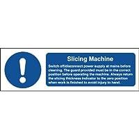 Slicing Machine Safety Sign 100 x 300mm. preisvergleich bei billige-tabletten.eu