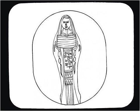 Mauspad mit Dekoration - Mumie, Schwarz und Weiß, Ägypten, Kunst,