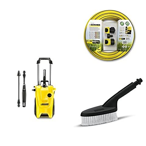 Kärcher K4 Compact Water-Cooled Pressure Washer with Hose Connection Set