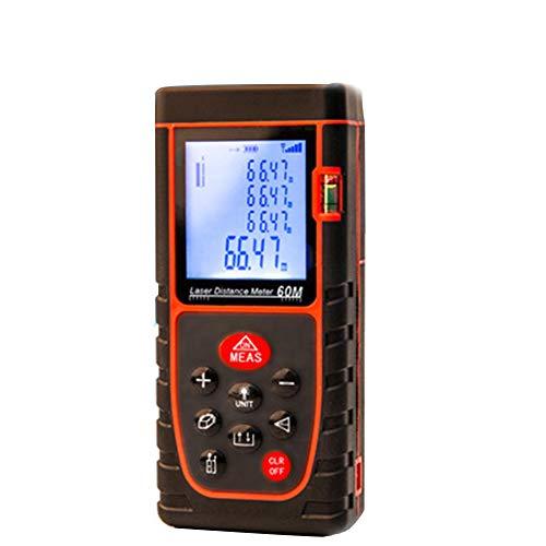 nungsmesser Distanz 40M, Laser Messgerät Entfernung Messen Sie Entfernung, Fläche Und Volumen,Pythagoras,Rot ()