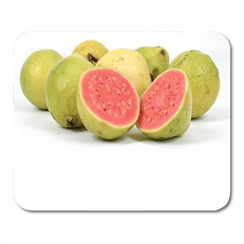 Deglogse Gaming-Mauspad-Matte, Nature Green Food Guava Fruits Over White Market Refresh Mouse Pad, Desktop Computers mats -