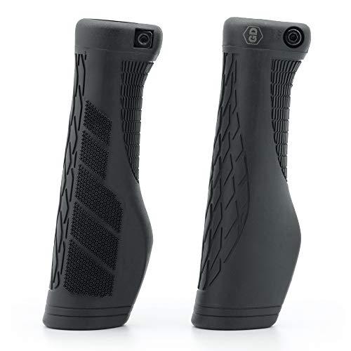 GD Grip Division ® Fahrradgriffe ergonomisch mit Lock-On Klemmung - Lenkergriffe rutschfest, weich und komfortable für einen sicheren Griff, schwarz