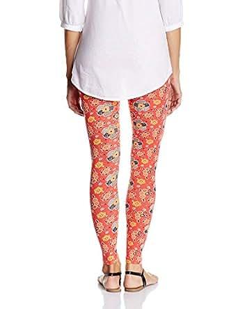 Sweetdreams Women's Cotton Spandex Full Leggings (F-SDL-LG295_Radical Red_XXL)