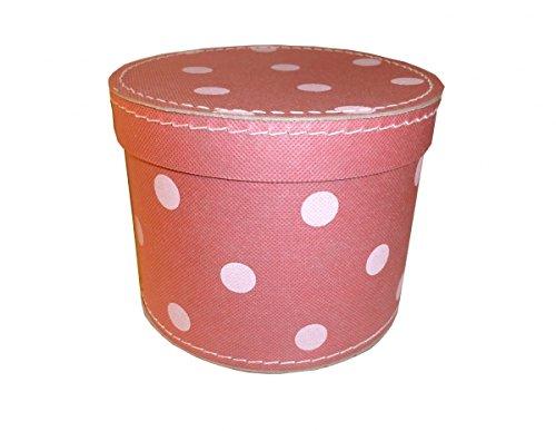 Pappdose Geschenkdose rosa mit Punkten 20 cm