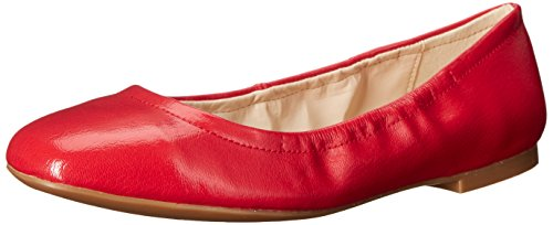 Nine West Girlsnite Ballet Synthetic Flat Red Patent