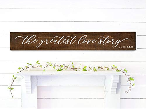 Derles Wood The Greatest Love Story Lyrics | Personalized First Dance Song | Wood Wedding Gift Sign