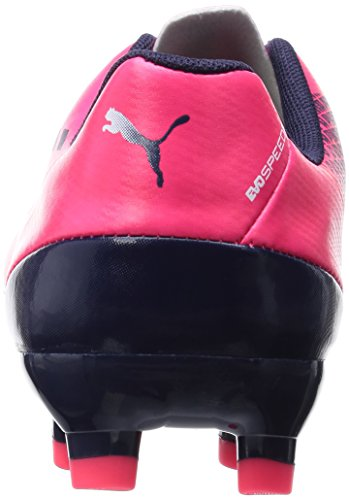 Puma Evospeed 5.3 Fg Jr, Chaussures de football mixte enfant Rouge - Rouge (bright plasma-blanc-peacoat 05)
