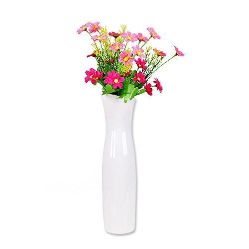 Weiß Vase Porzellan Vasen Modern,Stilvoller Cheongsam Keramik Blumen Vase, Einfache Kleiner Vase Deko Vasen,Ideale Dekoration Für Haushalt, Büro, Hochzeit, Partei