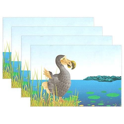 98158dcde Senwei Tier-Dodo Tisch-Sets Home Teller Fußmatte für Esstisch  hitzebeständig Küche Tisch Matte