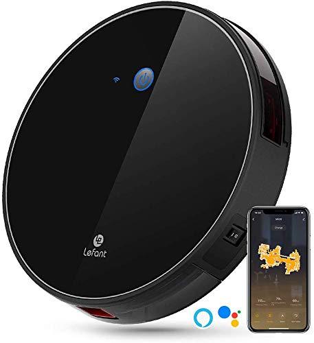 Lefant M520 Saugroboter mit Alexa und Google, Smart-Mapping, für Tierhaare, Teppiche und Hartböden