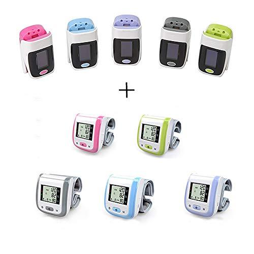 CX ECO Pulsoximeter-Blutdruckmessgerät Handgelenk-Blutdruckmessgerät Fingeroximeter Tragbarer Blutdruckmessgerät mit Herzfrequenz für den Heimgebrauch (1 Satz,Purple