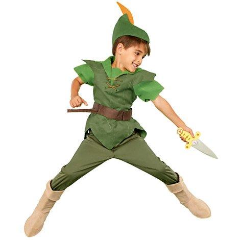 Autentico, del negozio originale Disney Peter Pan Costume per i bambini - Include tunica, pantaloni, cappello e stivale scamosciato ricopre - Taglia 3 anni