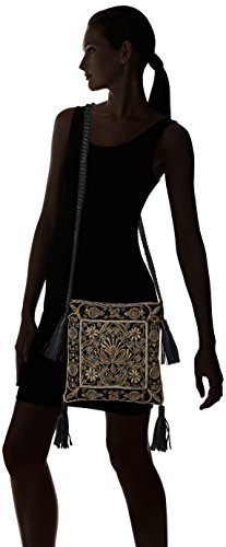Antik Batik Zarina, Sac porté épaule - Femme Or (Gold)