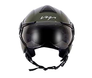 Vega Verve Open Face Helmet (Women's, Army Green, S)