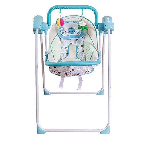 AIBAB Baby Wippe Stuhl Prahler Sommer mit Einem Moskitonetz Netzkabel USB Kabel Stecker Laufwerk Baby Elektroschock Stuhl Beruhigende Stuhl (Stecker Für Baby-schaukel)