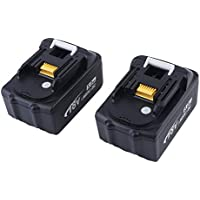 2 Pcs 18V 5.0AH 5000mAh Li-Ion Battery Rechargeable Battery Replacement For MAKITA Cordless Drills Power Tool