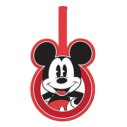 Preisvergleich Produktbild Echte Disney Classic Mickey Mouse Pose PVC Gummi Gepäckanhänger Reisen