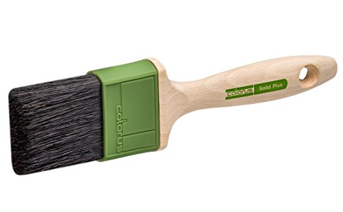 Colorus High Premium Flachpinsel 60 mm | Lackierpinsel Solid für zähe und lösemittelhaltige Lacke und Farben | Lack-Pinsel mit stabilisierten Chinaborsten | Borstenpinsel Beschneide Pinsel